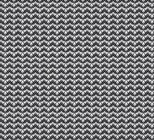 Black and Grey Art Deco Pattern by pyktispix