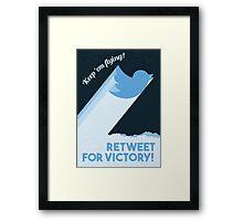 Twitter Propaganda Poster Framed Print