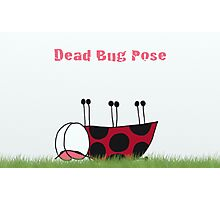 Dead Bug Yoga Pose Photographic Print