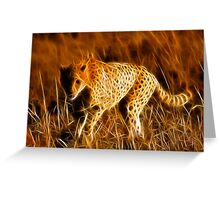 Sprinting Cheetah Greeting Card