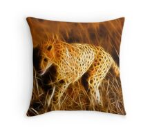 Sprinting Cheetah Throw Pillow