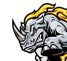 Angry Rhino by TMP Design