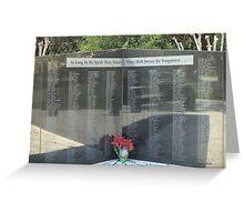 Memorial Wall Greeting Card