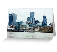 Downtown London Greeting Card