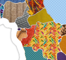 Patchwork Map of Africa Sticker