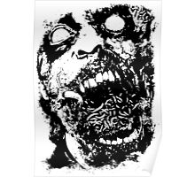 Undead Zombie Illustration Poster