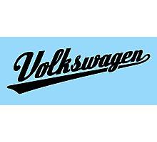 Volkswagen Sports Logo (black) Photographic Print