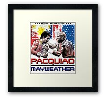 Pacquiao Mayweather shirt Framed Print