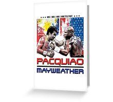 Pacquiao Mayweather shirt Greeting Card