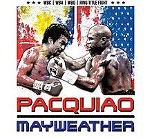 Pacquiao Mayweather shirt Photographic Print