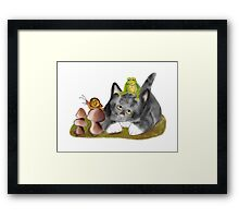 Snail, Frog and Kitten Framed Print