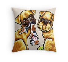 Griffs And Toys Throw Pillow