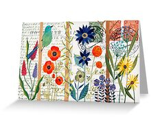 Birds with flowers Greeting Card