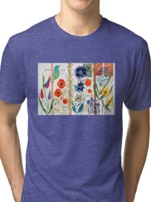Birds with flowers Tri-blend T-Shirt