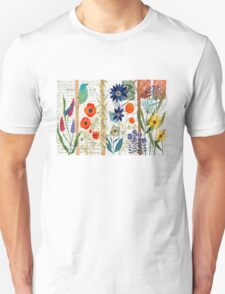 Birds with flowers Unisex T-Shirt
