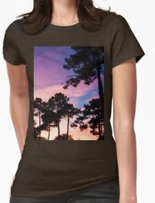 Sunset - Clouds, wind and trees #2 Womens Fitted T-Shirt