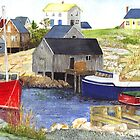 Peggys cove Nova Scotia by conniecrayon