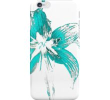 blue flower in a white background iPhone Case/Skin