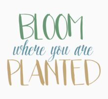 Bloom where you are planted by pencreations