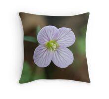 Purple Oaks Toothwort Throw Pillow