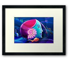 Underwater Fantasy Wall Fine Art Framed Print