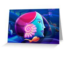 Underwater Fantasy Wall Fine Art Greeting Card