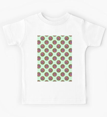 wonky brown polka dots Kids Tee