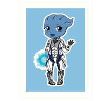 Mass Effect 3: Liara T'soni Chibi Art Print
