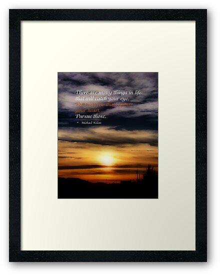 Sunday Night Sunset by Glenna Walker