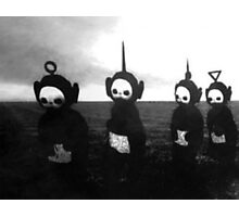 Teletubbies go to hell (black and white noir) Photographic Print