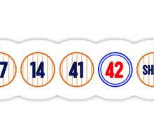 Mets Retired Numbers Sticker