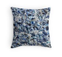 Shelly Beach Shells-(Inverted) Throw Pillow