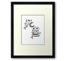 Intricate Owl at Musical Midnight Framed Print