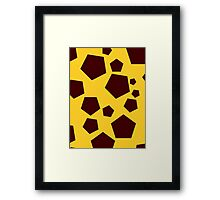 Pentagon Pattern Framed Print