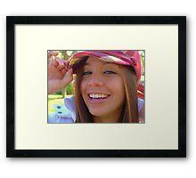 Kelsey Smiles Framed Print