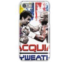 Pacquiao Mayweather shirt iPhone Case/Skin