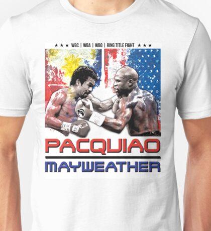 Pacquiao Mayweather shirt Unisex T-Shirt