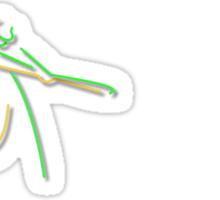 Neon Shea Stadium Signs Sticker