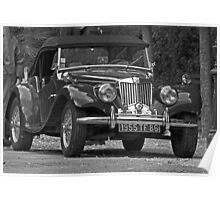 Vintage car an atmosphere of yesteryear 02 (n&b)(t) by Olao-Olavia / Okaio Créations by PANASONIC fz 200  Poster