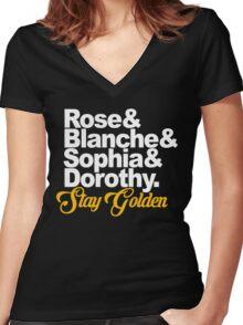 Stay Golden Women's Fitted V-Neck T-Shirt