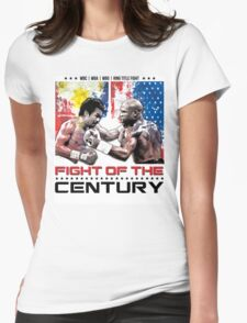 Pacquiao Mayweather shirt Womens Fitted T-Shirt