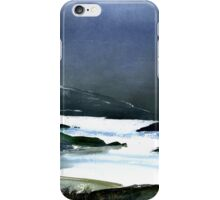 Icy white waters in forest black onyx mountains iPhone Case/Skin