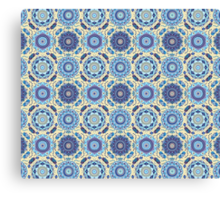 Spring Badge Pattern Canvas Print