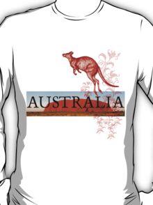 Australia Ayers Rock & Kangaroo T-Shirt