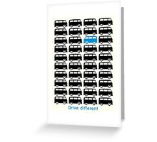 VW Bus - Drive different (black) Greeting Card