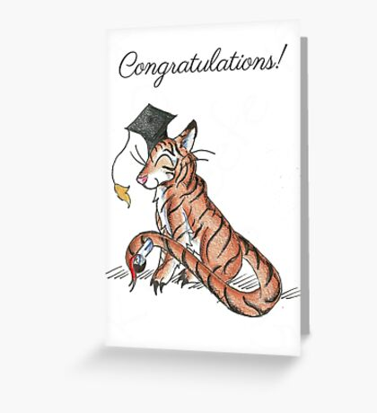 Tiger Grad Greeting Card