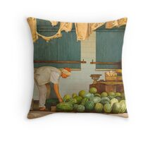 MARKET II Throw Pillow