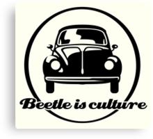 VW Beetle is culture (black) Canvas Print