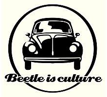 VW Beetle is culture (black) Photographic Print