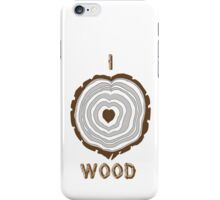 I Heart Wood iPhone Case/Skin